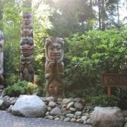 Canada-Vancouver, descente vers le parc du pont suspendu de Capilano