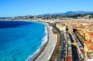 Panoramic view of Nice France