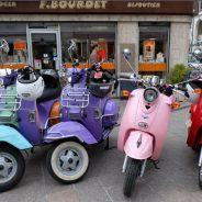 Les châteaux de la Loire en scooter rétro